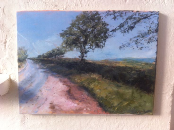 Hope this is dry in time for Definitely Devon exhibition launch in 5 days! JulieDunsterArt@gmail.com for info