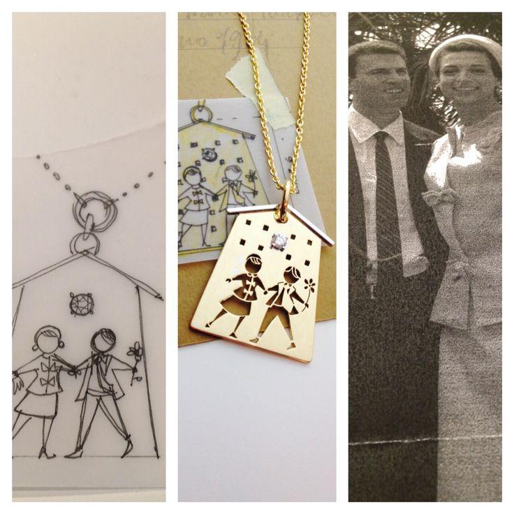 Si festeggiano i 50 anni di matrimonio, ricordando la chiesa dove ci siamo sposati e i vestiti che indossavamo!