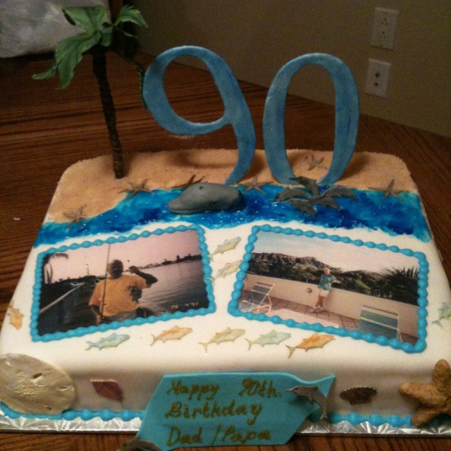 Dads 90th birthday cake i made cakes pinterest ideas for 90th birthday cake decoration ideas