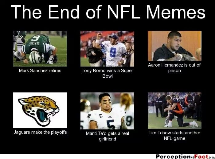 Funny Meme Nfl : Ha the end of nfl memes and college football