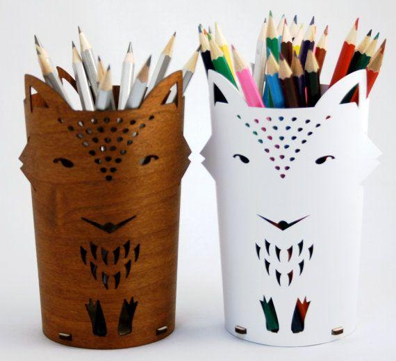 Pot à crayons Renard par ShopDululu sur Etsy