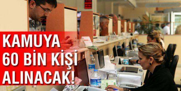 Çalışma ve Sosyal Güvenlik Bakanı Mehmet Müezzinoğlu, 'Kamuda 2017 yılında 60 bin yeni kişi istihdam edilecek. Bunlar ağırlıklı olarak Milli Eğitim ve Sağlık bakanlıkları ile Emniyet Genel Müdürlüğünde olacak' dedi.