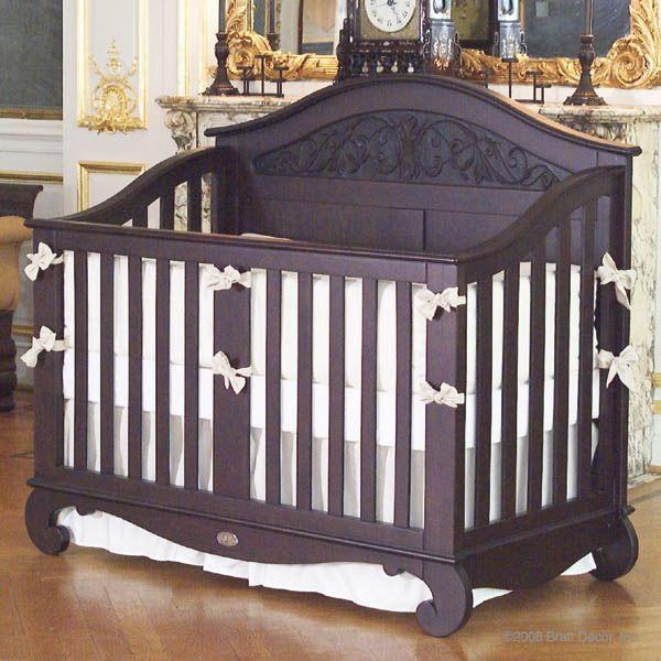 Brown Crib   Bratt decor, Luxury baby crib, Nursery canopy