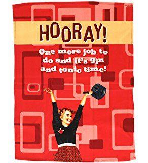 Half Moon Bay Tea Towel, Hooray!