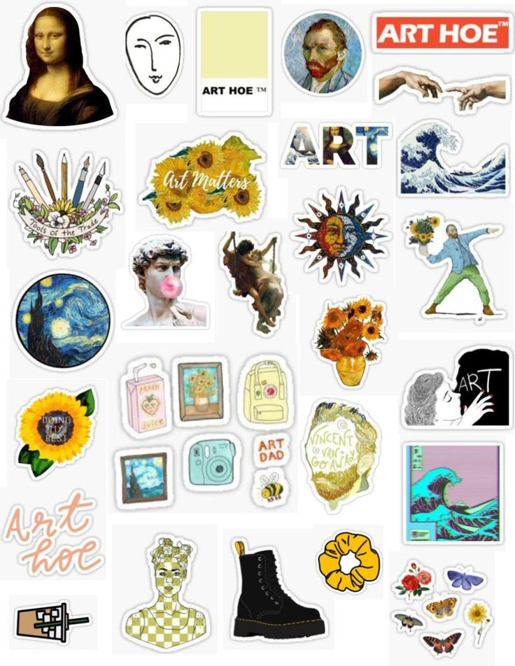 Art Hoe Sticker Pack Stickers For Art Hoes Artsy Cute Fun
