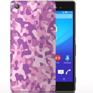 Coque camouflage Rose pour Sony Xperia M5 Aqua. #phonecase #Navy #Rose #Camo #Coque #Etui #M5 #SonyXperia