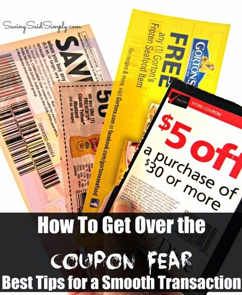 SavingSaidSimply.com: How to Get Over Coupon Fear - Best Tips for a Smooth Transaction