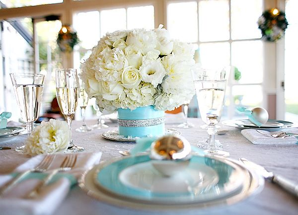 Tiffany Blue Table Settings Just Need To Add Some Chocolate Brown