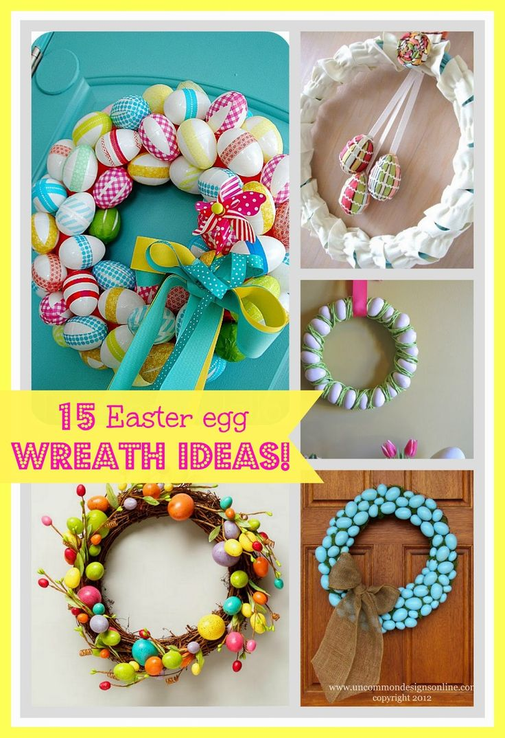 Good ideas for Easter Wreaths without instructions - seem easy