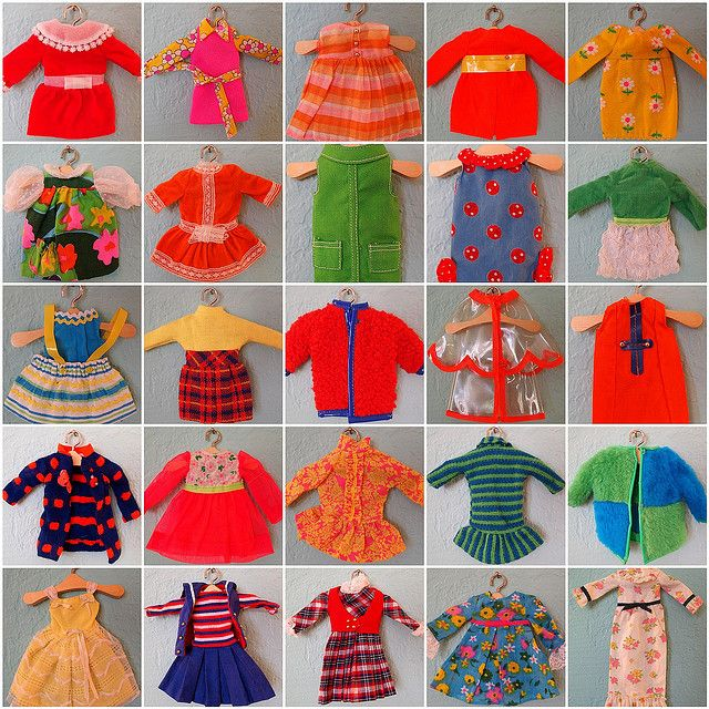 Vintage Skipper doll outfits.