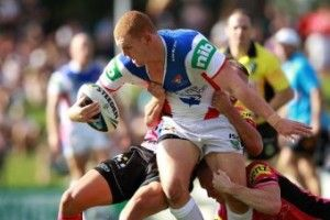 Injured Newcastle Knights forward Alex McKinnon has started to gain improved movement in his arms.