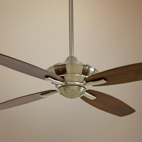52 minka aire new era energy star brshd nickel ceiling - Bedroom ceiling fans with remote control ...