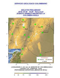 Diario Vallevirtual: Temblo en el Departamento del Huila