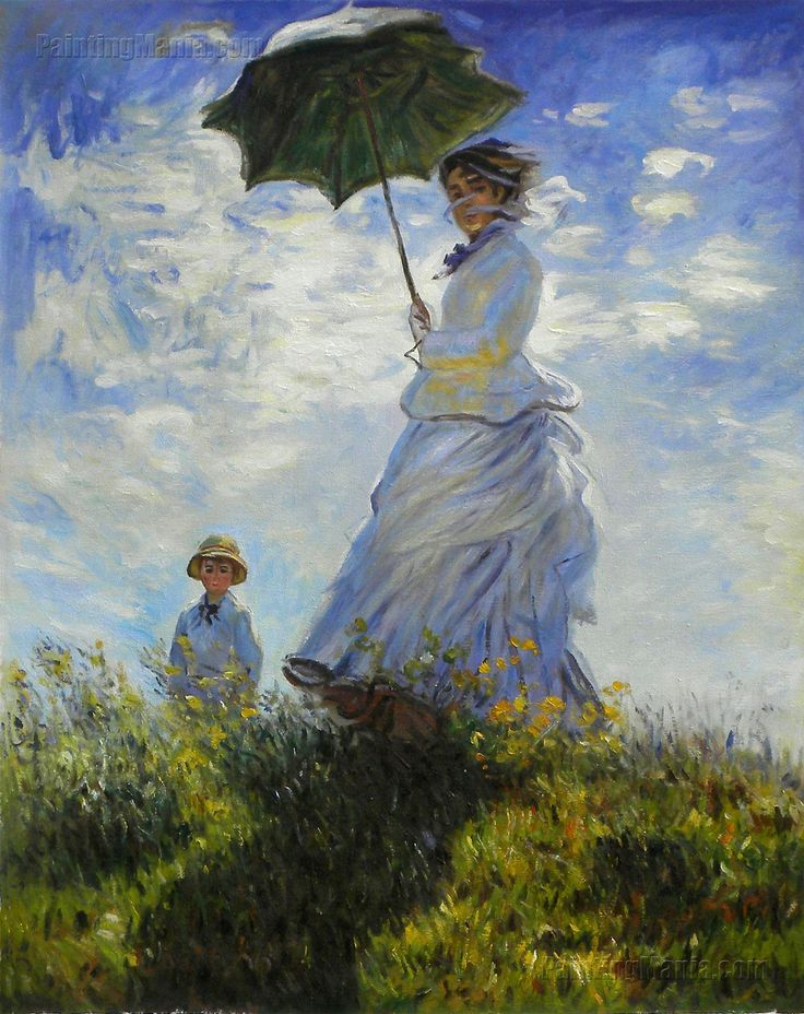 parasol | Claude Monet The Walk, Woman with a Parasol Poster Print