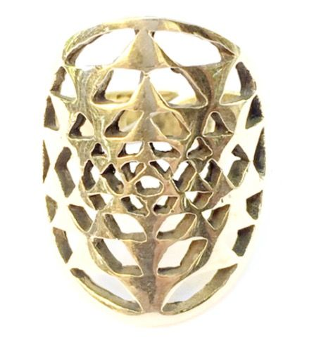 ✨This beautifully crafted Brass Sri Yantra Sacred Geometry Ring is easily adjusted to fit most adult finger sizes. <>$35<> at ~heartmala.com~ ✨✨✨✨✨✨✨✨ Also known as the Cosmic Yantra or Yantra of Creation, the Sri Yantra Mandala is the most revered of all the Hindu Yantras.💫 The Sri Yantra is the symbol of divine feminine energy intersecting divine masculine energy, the balance of yin and yang and the cosmic spiritual union of Shiva and Shakti, the highest ultimate force in the Tantric…