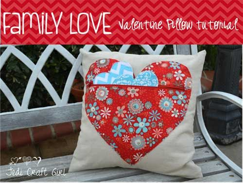 Family Love Valentine Pillow - Free Sewing Tutorial & 38 best Pillows and Cushions Sewing Patterns images on Pinterest ... pillowsntoast.com