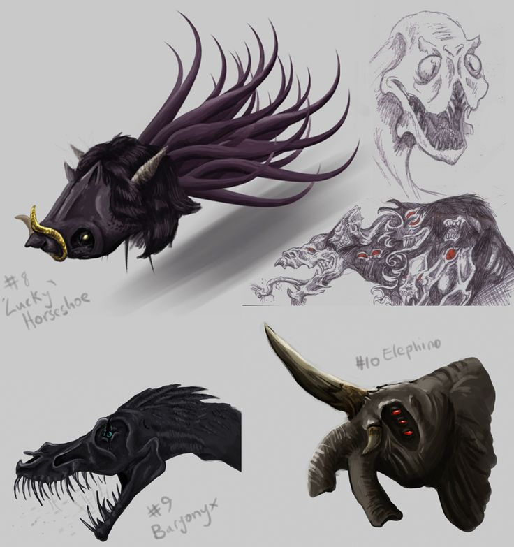Here are some shadow creature designs. I went slightly insane and tried to get a wide range of creature types and shapes. My personal fa...