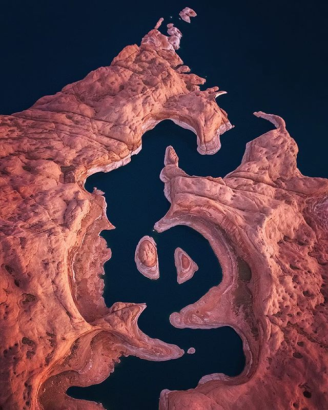 Lake Powell, Utah USA from above by Michael Shainblum.