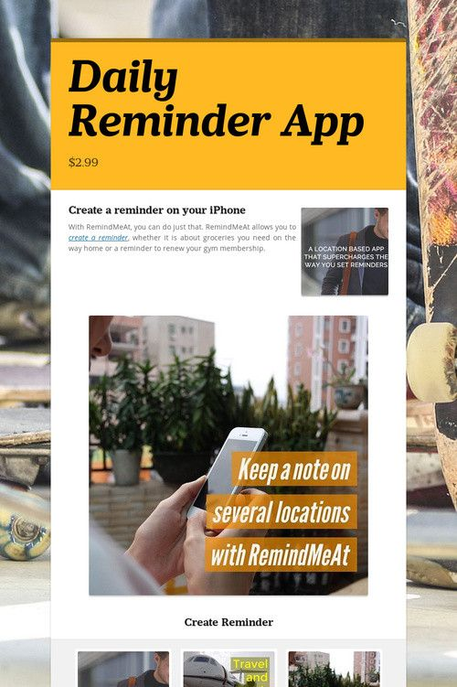 Daily Reminder App