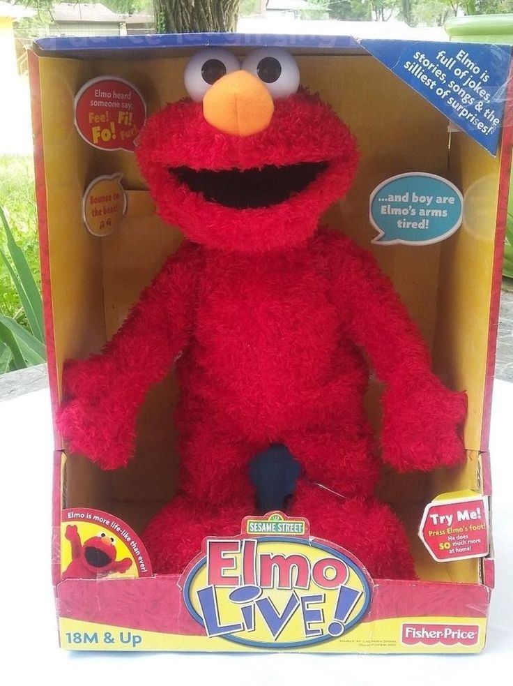 Elmo Live! Tested Working Sesame Street Fisher Price Original Sealed Box Plays #FisherPrice