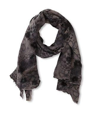 Carolina Amato Women's Flower Wool Scarf, Grey