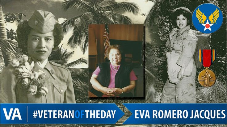 Today's #VeteranOfTheDay is Army Veteran Eva Romero Jacques. Eva served during World War II, from 1943 to 1945. Eva was a staff sergeant with the Far E... - U.S. Dept. of Veterans Affairs - Google+