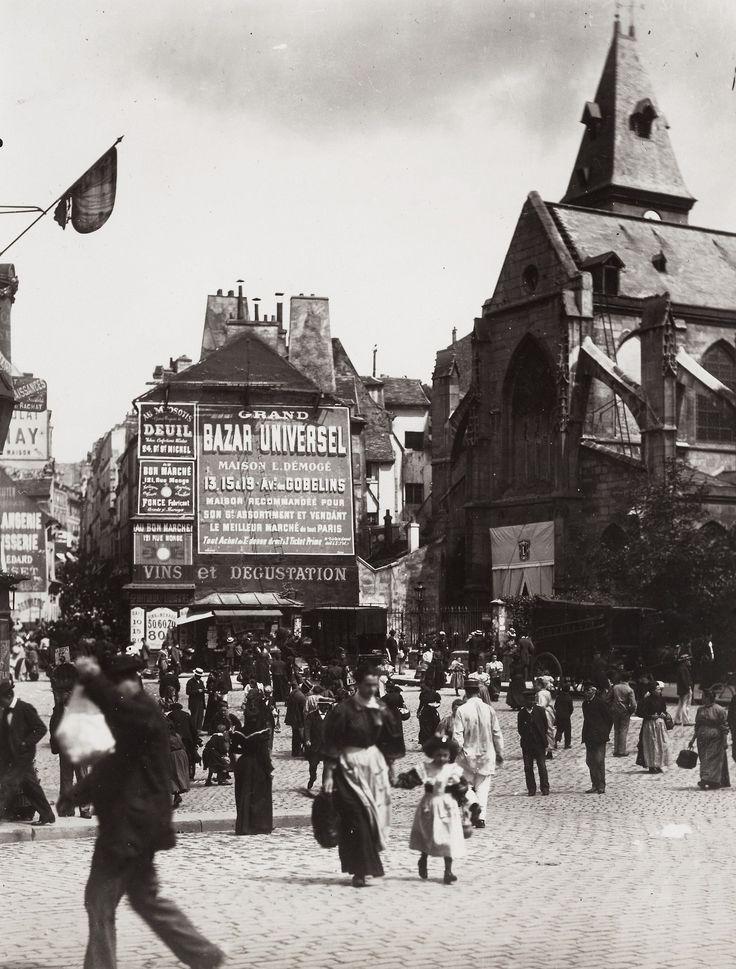 Rue Mouffetard, Paris, ca. 1900 - Eugène Atget #Fotografía @Qomomolo goo.gl/z0C7ml