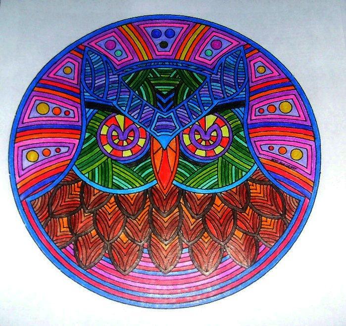 21 best images about mandalas con l pices de colores on - Colores para mandalas ...
