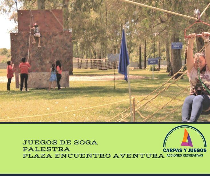 ALQUILER DE JUEGOS DE SOGA - PALESTRA- VISITA NUESTRA PÁGINA www.carpasyjuegos.com.ar - Conocé PLAZA ENCUENTRO AVENTURA #Juegos #Recreación #AlquilerDeJuegos #eventosempresariales