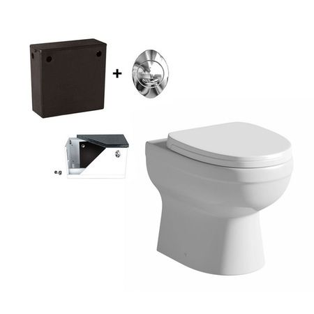 £109 Energy Back To Wall Toilet Inc Concealed Cistern