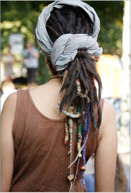 Wrapped dreadlocks.#Repin By:Pinterest++ for iPad#