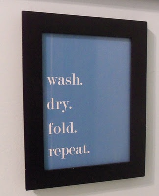Living Life By the Numbers: 31 Days of Pinterest: Day 16 Laundry Room Print