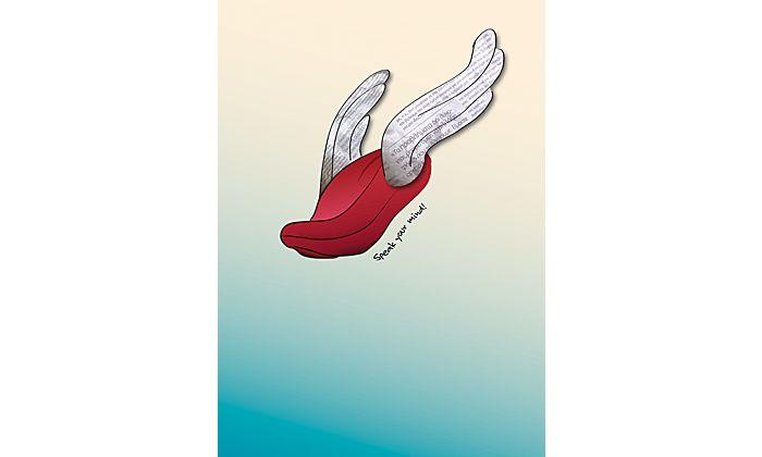 FloatingConcepts - portfolio environmental Speak your mind! #poster #freedom #expression