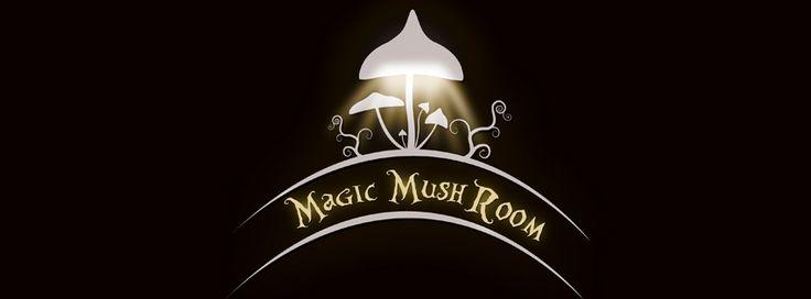 Magic mushroom logo by magicmushroomlamp with some glowing fungi shrooms by (f)magicmushroomlamp