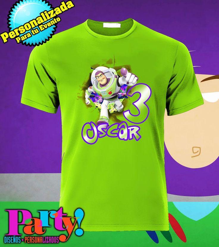 Playera Personalizada Toy Story Buzz Lightyear - Jinx , playera, fiesta, personalizada, evento, ropa, camiseta, cumpleaños, programa, niños, trajes