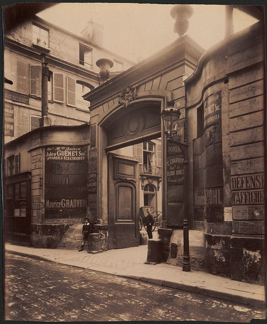 Hotel de Montmorency - 5 rue de Montmorency. (3e arr) by Eugene Atget, George Eastman House, via Flickr