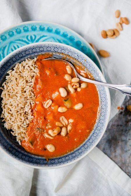 Blitzschnelle afrikanische Erdnusssuppe - weil verrückt manchmal unfassbar gut…