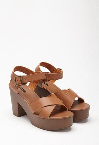 b4cfa77c703cb Platform Faux Leather Sandals