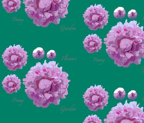 peony-green fabric by wextverk on Spoonflower - custom fabric