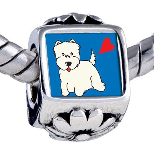 Pugster Bead Westie Dog Beads Fits Pandora Bracelet Pugster. $12.49. Note: Snake chain is not included. Weight (gram): 3.75. Bead Size (mm): 7.46mm*8.09mm*12.09mm. Metal: base metal