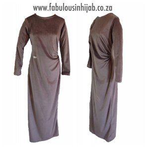 Velour Side Gathered Dress