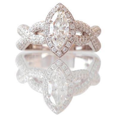 mark silverstein diamond engagement rings | Marquise Engagement Ring | 3 carat engagement ring