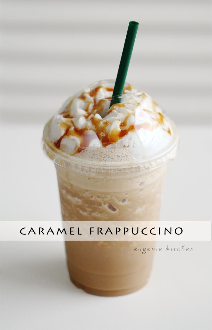 Caramel Frappuccino! Convenient homemade Starbucks fix at home. Icy Frappuccinos…