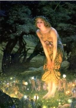 """Midsummer Eve""--John William Waterhouse"