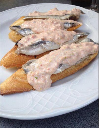 #Antxoas con crema de Centolla #donostia #sansebastian #basquecountry #gastronomia #pintxosvascos #paisvasco