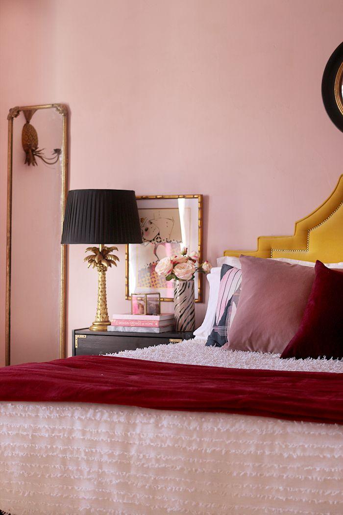 How I Ve Styled My Blush Pink Master Bedroom For Now Interer Dom Kvartira