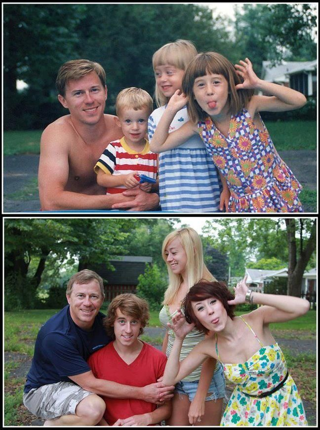 Recreating Childhood Photos (Updated)... Need to do this with some old family photos....