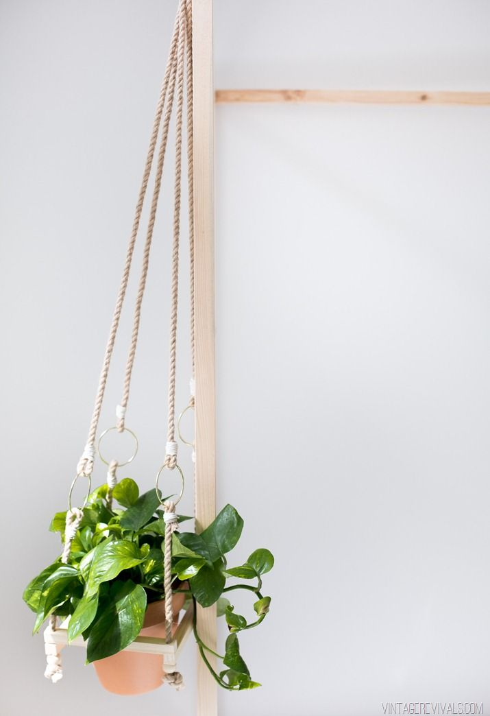 DIY Simple Boho Hanging Planter 224 best