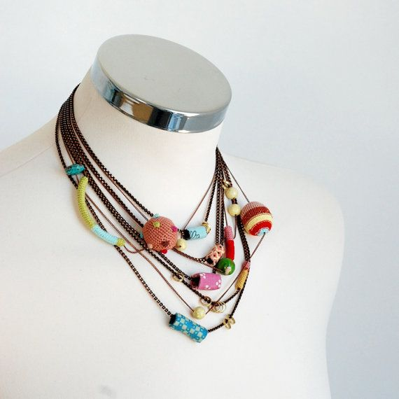 Summer multilayer statement light necklace by kjoo on Etsy, $555.00