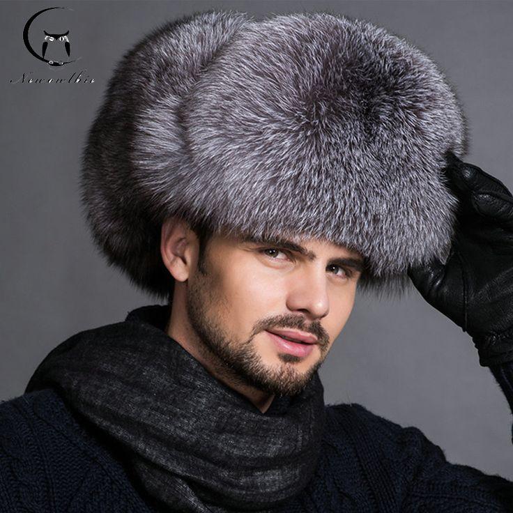 Hot high-end luxury fur hat Men's fox fur hat Lei Feng cap ear cap outdoor fur Ski necessary hat